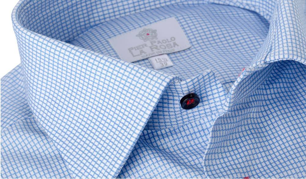 Camicia Armatura Pied de Poul Azzurro 100% Cotone