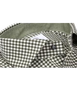 Camicia Flanella Quadro Vichy Verde