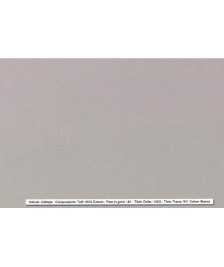 Tessuto Twill Classico Bianco 100% Cotone