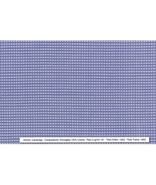 Tessuto Giroinglese 100% Cotone Azzurro