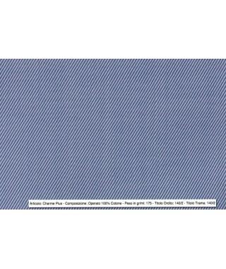 Tessuto Twill Classico 100% Cotone Bluette
