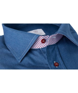 Camicia 100% Cotone Jeans Blu di Genova