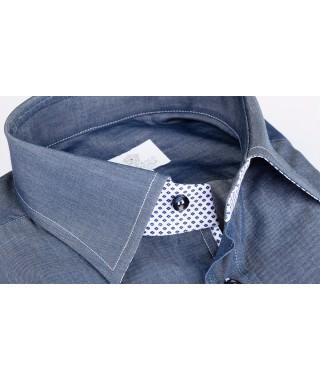 Camicia 100% Cotone Jeans Blu di Amalfi