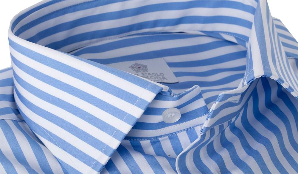 Camicia 100% Cotone Doppio Ritorto Pari Largo Azzurro