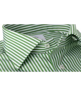 Camicia 100% Cotone Popeline Doppio Ritorto Larga Verde Acido