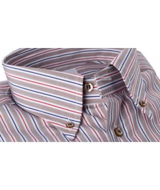Camicia 100% Cotone Multicolor Beige/Rosso/Blu